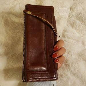 Vintage ELLEN TRACY leather clutch wallet